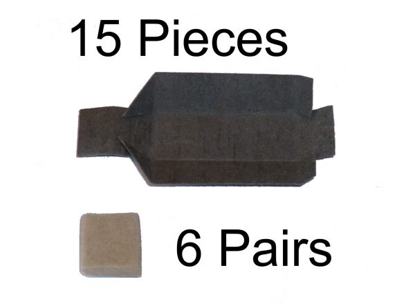 Thermaltronics DS-CP-1 Filter Wool (6 pairs) & Chamber Liner (15 pcs) (Combo Pack) interchangeable for Metcal MX-DCF1