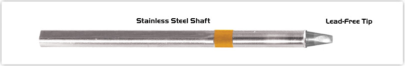 """Thermaltronics S75CH025 Chisel 30deg 2.5mm (0.10"""") interchangeable for Metcal SSC-736A"""