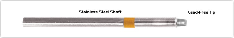 """Thermaltronics S75CH032 Chisel 90deg 3.20mm (0.13"""") interchangeable for Metcal SSC-713A"""