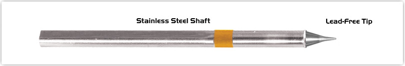 """Thermaltronics S75CS005 Conical Sharp  0.5mm (0.02"""") interchangeable for Metcal SSC-722A"""