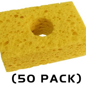 "Thermaltronics SPG-50 Yellow, Sponge, (3.2"" X 2.1"") (50 PACK) interchangeable for Metcal AC-YS3-P"